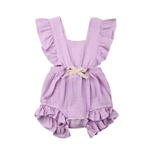Other - Lilac Ruffled Romper